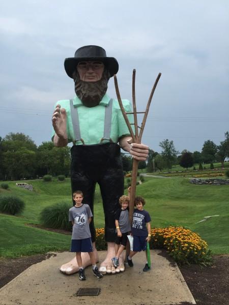 Hershey Farms Inn Property farmer statue