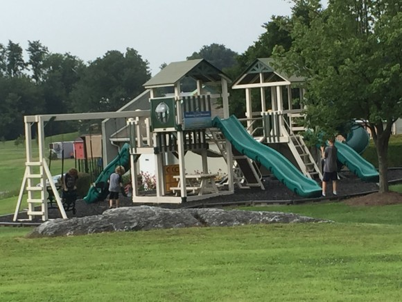 One of 2 Playgrounds at the Hershey Farms Inn.