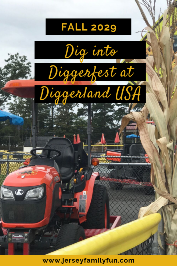 Diggerfest at Diggerland tractor with cornstalk