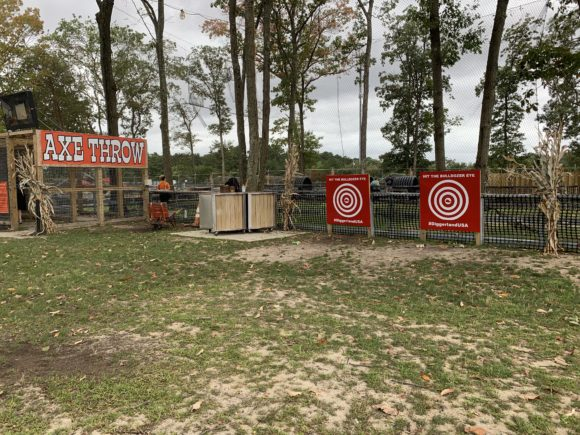 axe throwing for kids at Diggerland