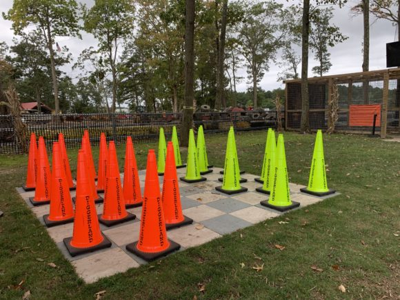 cone checkers at Diggerland usa