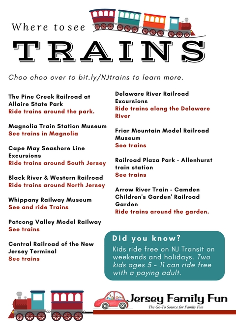 Where to see trains in New Jersey