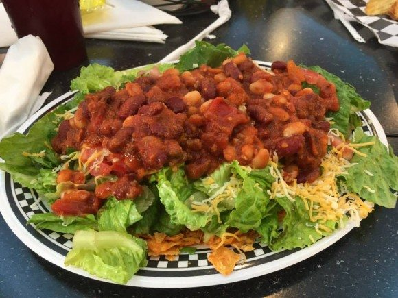 DJ's, A Taste of the 50's Lucy's Fav Taco Salad
