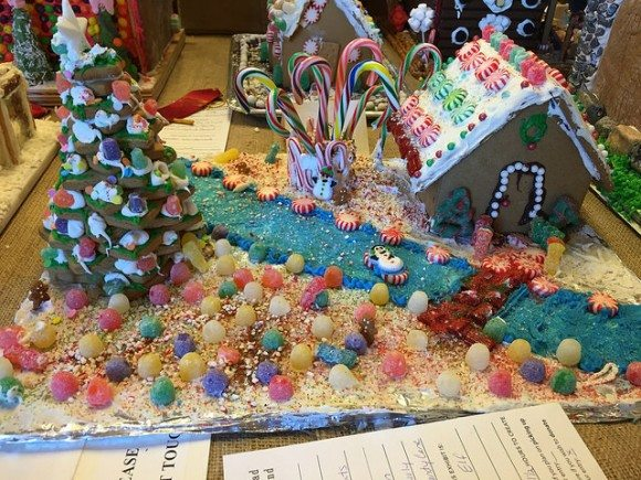 The Frelinghuysen Arboretum Gingerbread Wonderland is great for holiday family fun in Morris County New Jersey