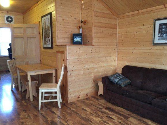 Hersheypark campground cabin inside 1