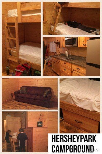 Hersheypark campground collage