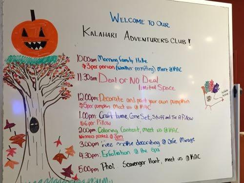 Kalahari Resorts Holiday Activities include extra fun with theAdventurer's Club