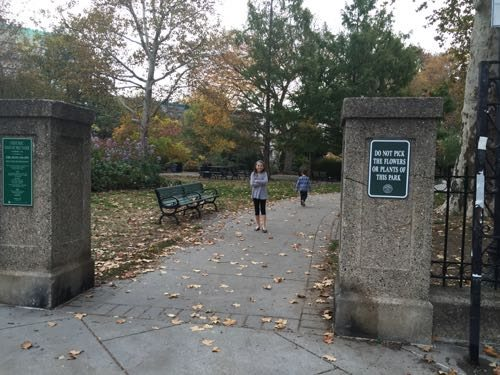 One of the entrances to Van Vorst Park