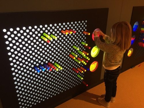 Liberty Science Center pixel art wall