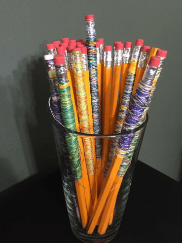 Wrapped pencils