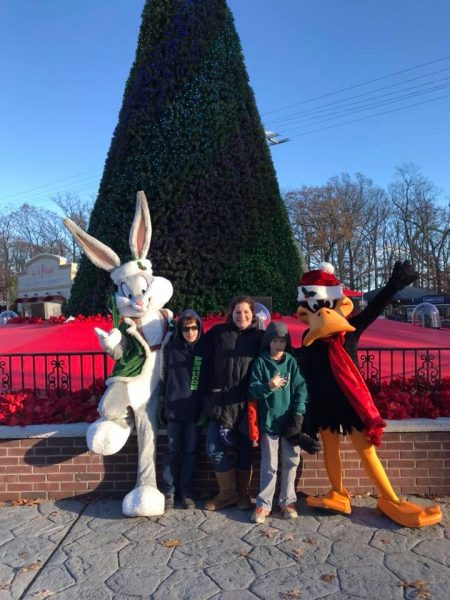 Bugs Bunny Character Pictures at Six Flags Great Adventure Holiday in the Park Activities