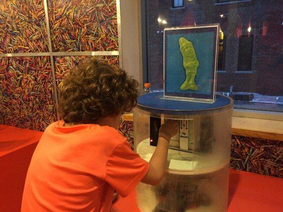 Crayola Experience molding station