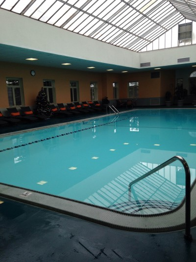 The indoor pool at Skytop Lodge was a favorite for our family!