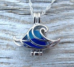 Wave Of Life Wave Locket Necklace