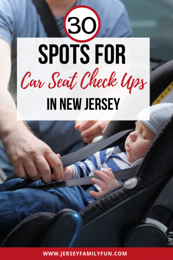 car seat inspection stations in New Jersey pinterest image