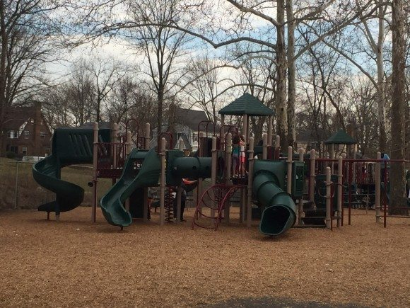 One of the playground structures