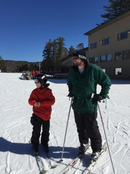 King Pine Ski Area father & Son moment