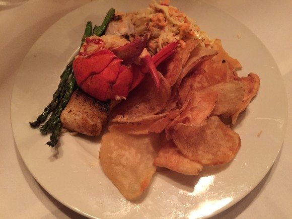 Snowvillage Inn Gluten Free Haddock & Lobster