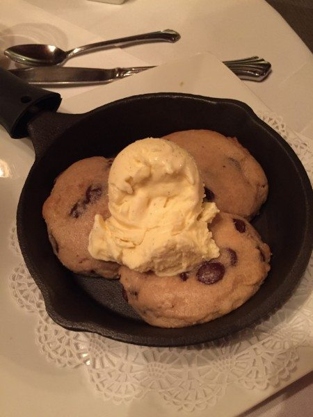 Snowvillage Inn's Chocolate Chips Skillet Cookie a la Mode