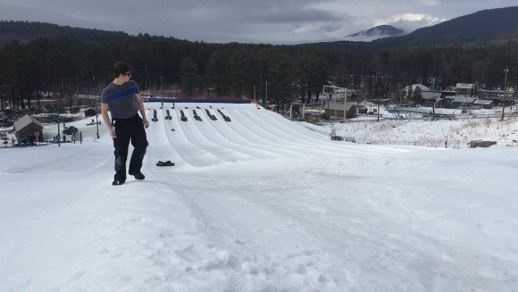 Cranmore Mountain Top of Snow Tubing hill