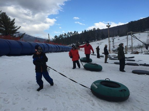 Cranmore Mountain Adventure Park snow tubing hill