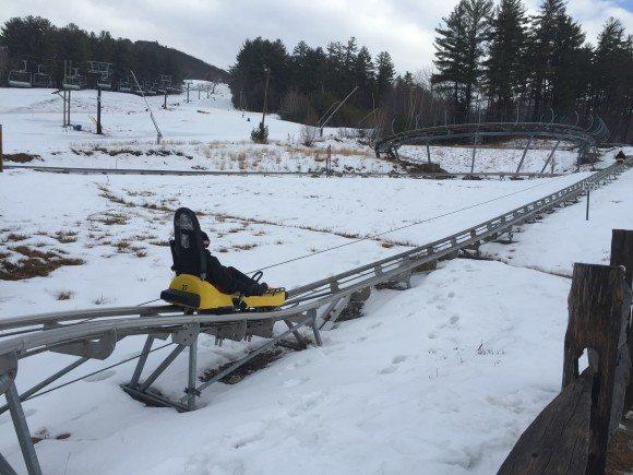 Cranmore Mountain Mountain Coaster on the track