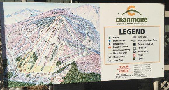 Cranmore Mountain Resort Ski Legend Map