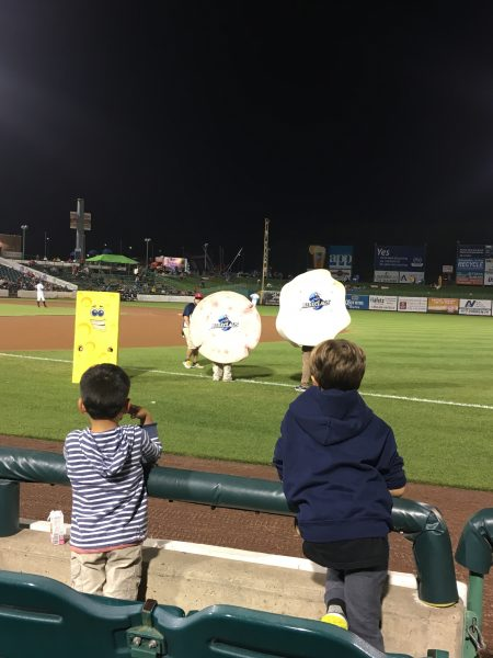 blue claws baseball team Pork Roll Egg and Cheese race