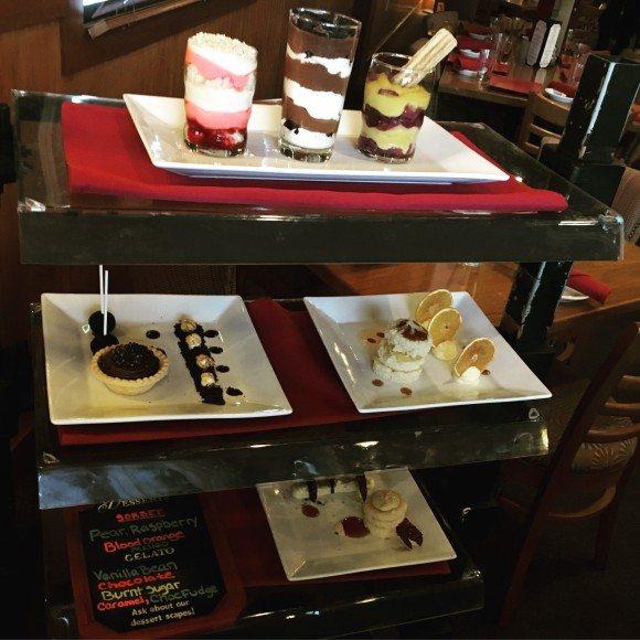 The amazing dessert cart!