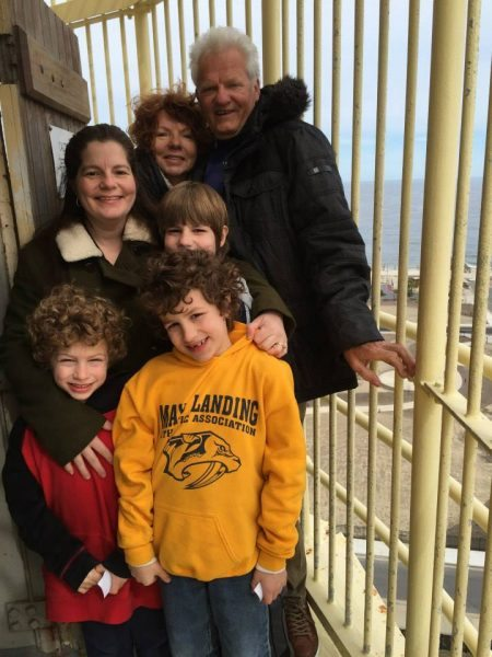 Oma and family at the Absecon Lighthouse