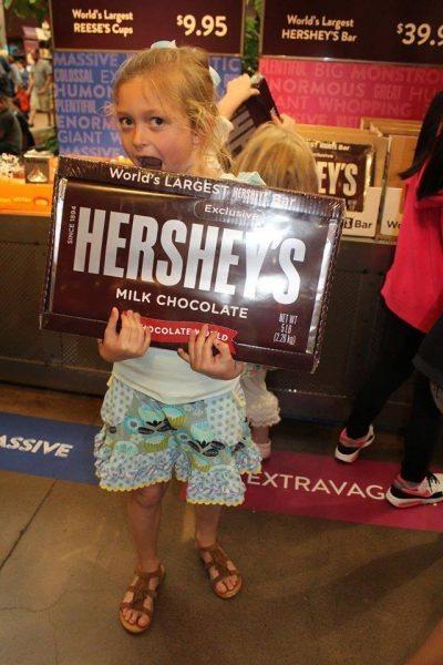 Hershey's Chocolate World Gift Shop Giant Hershey Bar