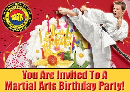 Birthday Parties at MacKenzie & Yates Martial Arts