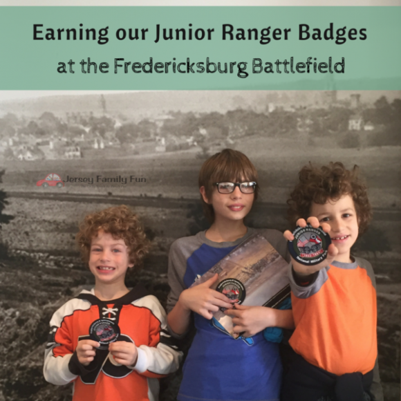 Earning our Junior Ranger Badges at Fredericksburg Battlefield