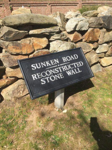 Fredericksburg Military Park Sunken Road Marker