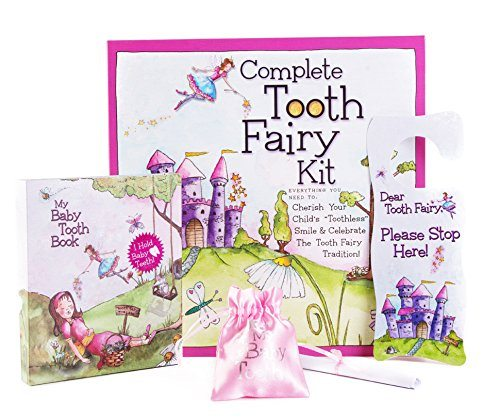 Complete Tooth Fairy Kit Baby Tooth Album Fairyland Complete Collection Kit