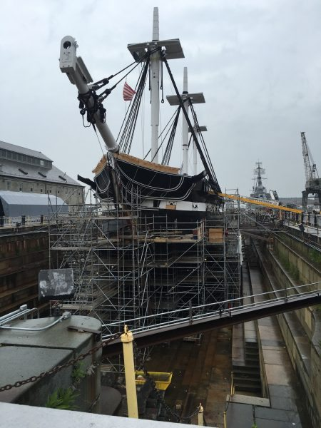 The USS Constitution in dry dock