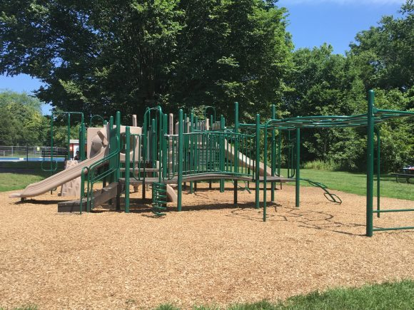 Playground structure at Michael Lepp Park