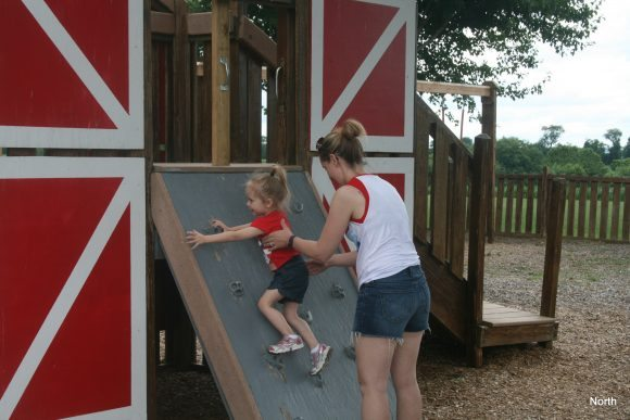 Heritage Park toddler section is perfect for budding climbers.