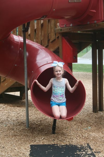 With two big slides, kids are sure to smile by the end of the trip.