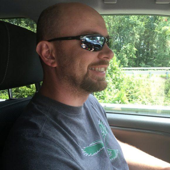 Husband driving