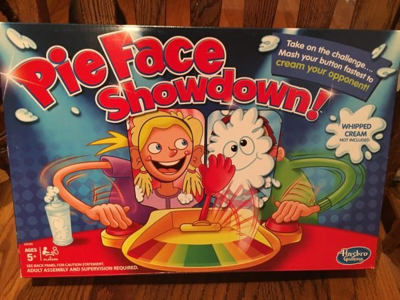 A box of fun - Pie Face Showdown by Hasbro!