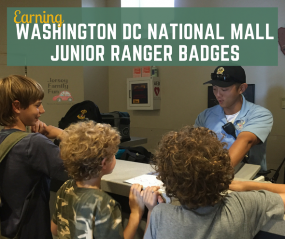 Washington DC National Mall Junior Ranger Badges