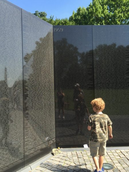 Washington DC National Mall Junior Ranger Badges Vietnam Veterans Memorial