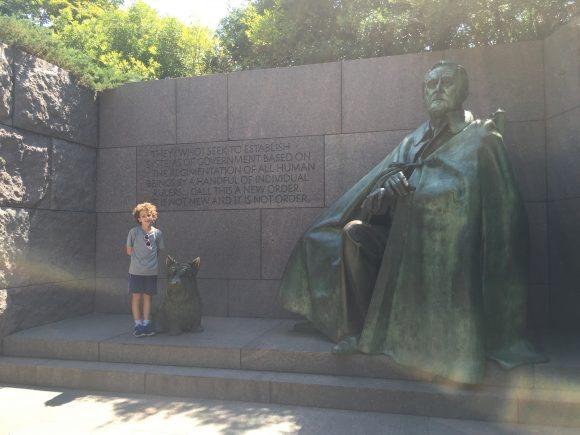 Washington DC National Mall Junior Ranger Badges Franklin Delano Roosevelt Memorial
