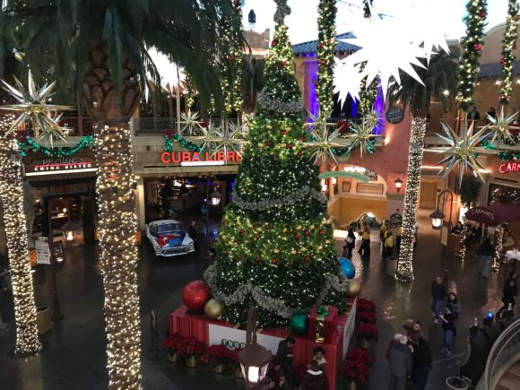 Large Christmas Tree in the Quarter at the Tropicana Atlantic City
