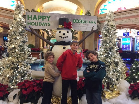 Tropicana Casino Snowman display for photos in the Quarter