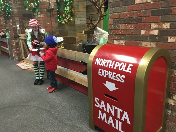 An elf will help you write your letter to Santa!