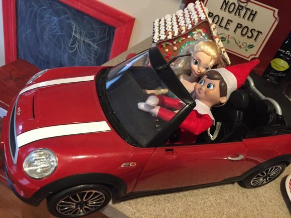 Elf on the shelf car