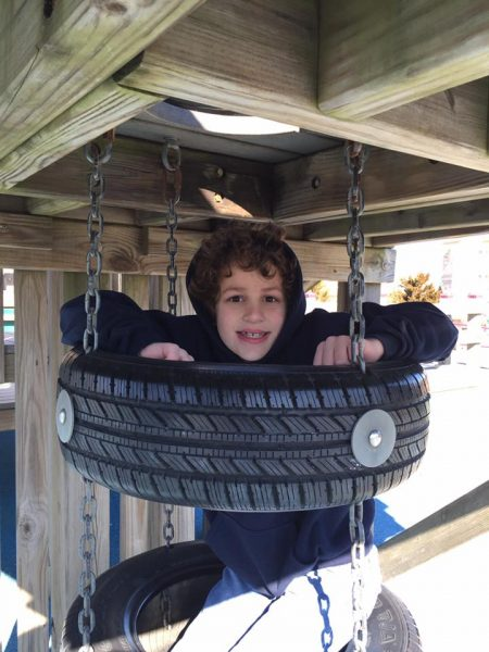 Picture of tire climbing area at Seven Presidents Park in Long Branch, New Jersey