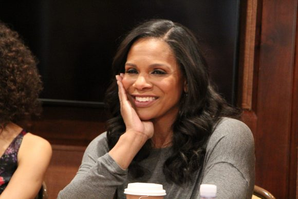 Beauty and the Beast interview with Audra McDonald at the Montage Hotel in Beverly Hills, CA.